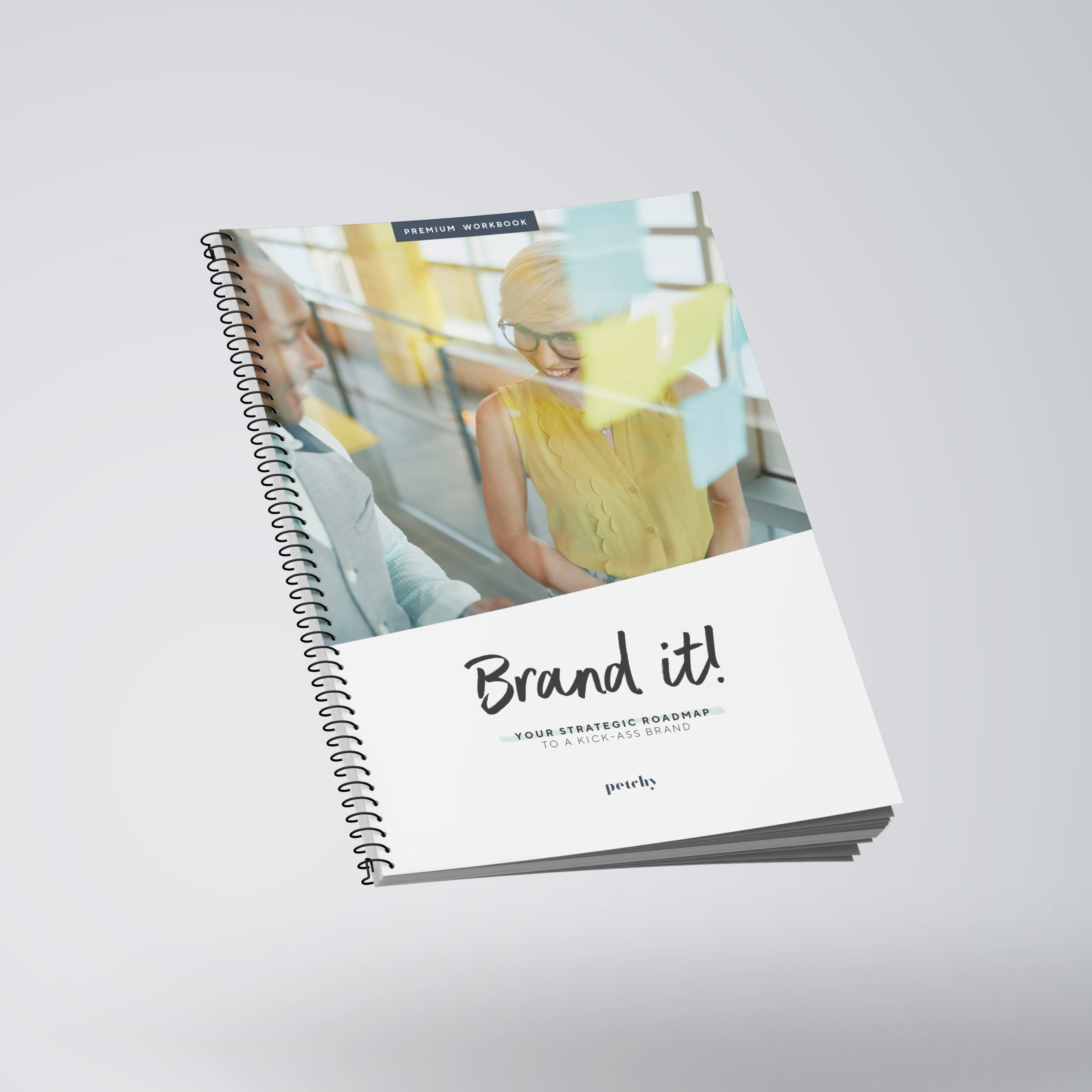 Mockup of the Brand it! Workbook cover